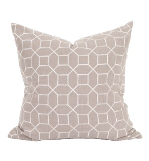 "24"" x 24"" Pillow Trellis Slate - Down Insert"