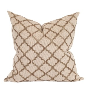 "24"" x 24"" Pillow Moroccan Gold - Down Insert"