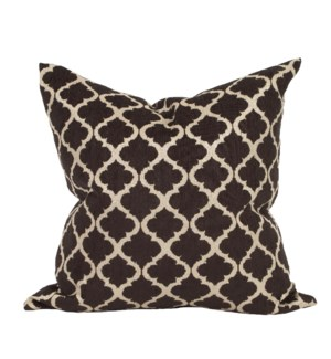 "24"" x 24"" Pillow Moroccan Onyx - Down Insert"