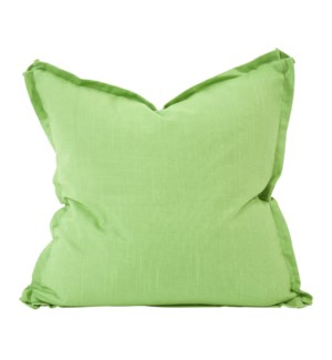 "24"" x 24"" Pillow Linen Slub Grass - Down Insert"
