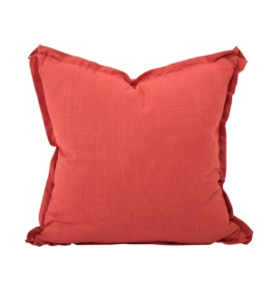 "24"" x 24"" Pillow Linen Slub Poppy - Down Insert"