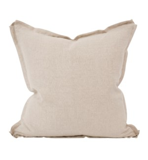 "24"" x 24"" Pillow Linen Slub Natural - Down Insert"
