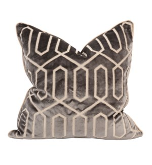 "24"" x 24"" Pillow Mirage Pewter - Down Insert"