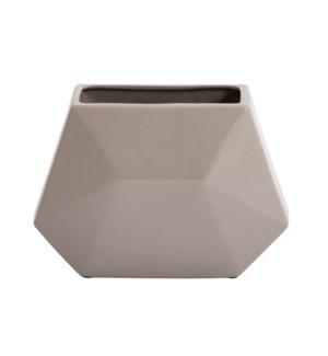 Geo Matte Stone Ceramic Vase, Small