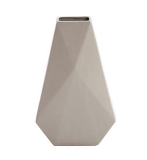 Geo Matte Stone Ceramic Vase, Large