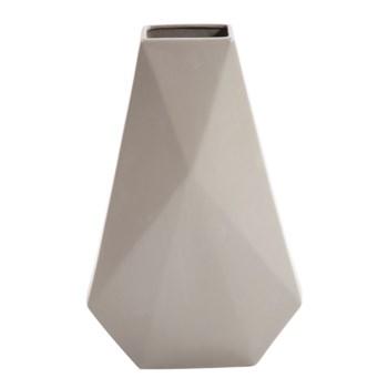 Geo Matte Stone Ceramic Vase, Medium