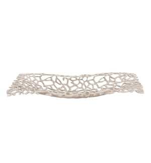 Silver Aluminum Branch Tray