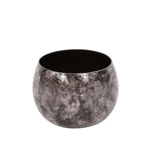 Black Marbled Iron Candle Holder, Small