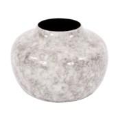 Round Gray Marbled Iron Pod Vase, Small