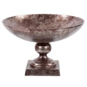 Aluminum Footed Bowl in Antiqued Bronze, Small