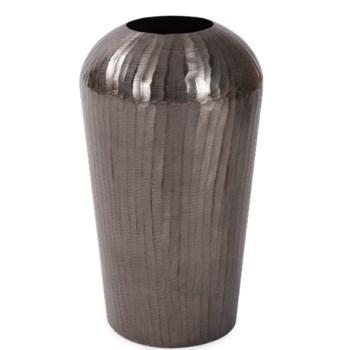 Carbon Gray Chiseled Aluminum Vase