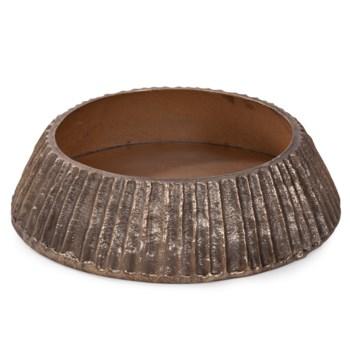 Organic Grooved Round Aluminum Bowl