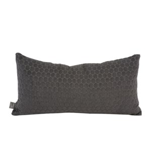 Kidney Pillow Deco Pewter - Poly Insert