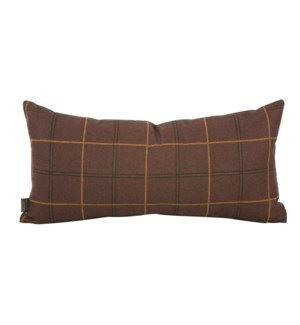Kidney Pillow Oxford Chocolate - Down Insert