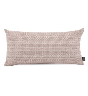 "11"" x 22"" Alton Blush Kidney Pillow"