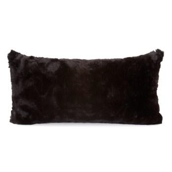 """11"""" x 22"""" Angora Ebony Kidney Pillow"""