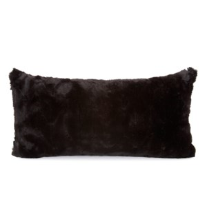 Kidney Pillow Angora Ebony - Down Insert
