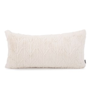 "11"" x 22"" Angora Natural Kidney Pillow"