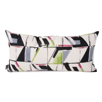 """11"""" x 22"""" Abstract Fuchsia Kidney Pillow"""