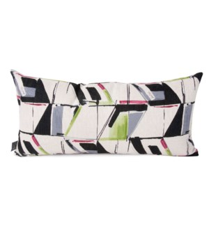 Kidney Pillow Abstract Fuchsia - Down Insert