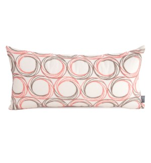 "11"" x 22"" Demo Coral Kidney Pillow"