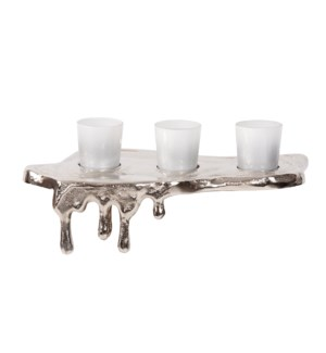 Nickel Molten Aluminum Candle Holder