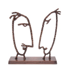 The Debate Metal Sculpture