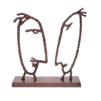 The Debate Metal Sculpture