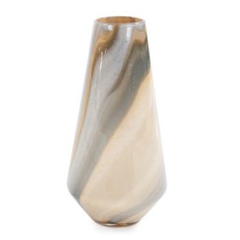 Sand Art Tapered Glass Vase