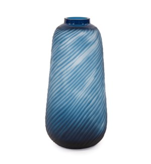 Oceanic Wave Tall Hand Blown Glass Vase