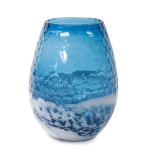 Blue-Sky Large Bulbous Vase