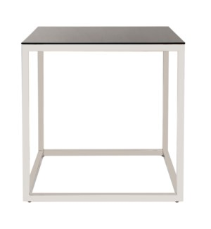 Square Stainless Steel Side Table - Black
