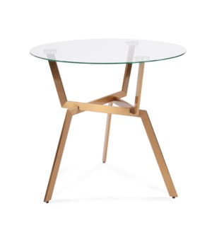 Round Gold Metal Side Table