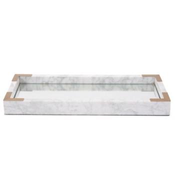 White Mirrored Marble Tray