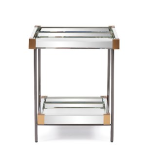 Elaine Mirrored Side Table