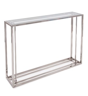 Echo Stainless Steel Console Table
