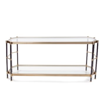 Graham Brushed Brass Console Table