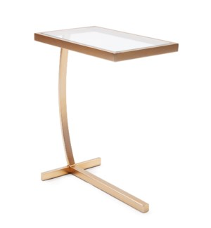 Dark Brushed Brass Side Table