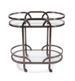 Black Nickel Stainless Steel Bar Cart