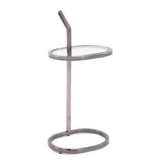 Oval Stainless Steel Drink Table