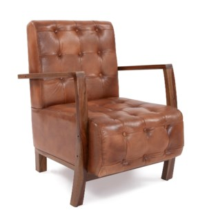 Davenport Tufted Leather Chair