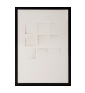 Dimensional Paper Squares Shadowbox Art