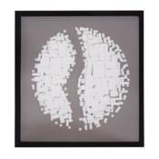 Abstract Paper Globe Shadowbox Art