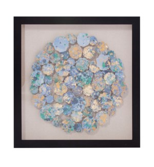 Abstract Chrysanthemum Shadowbox Art