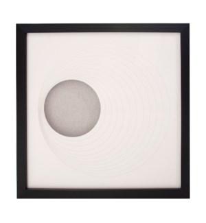 Dimensional Paper Circle Shadowbox Art