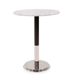 Micca Club White Marble Bistro Table