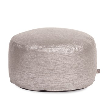 Foot Pouf Glam Pewter