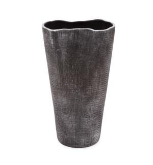 Textured Black Free Formed Ceramic Vase