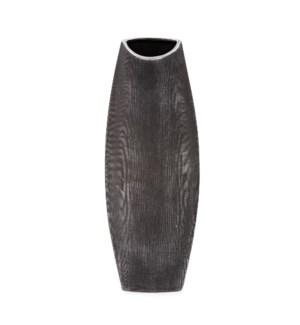Textured Black Free Formed Ceramic Vase, Tall