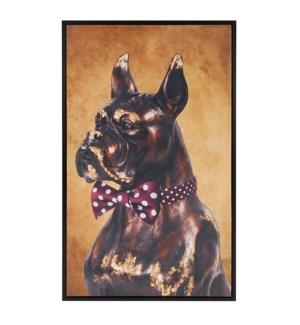 Bow Tie Boxer Original Art - Maroon